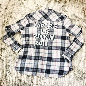 Forever 21 JADORE LE ROCK N ROLL Flannel